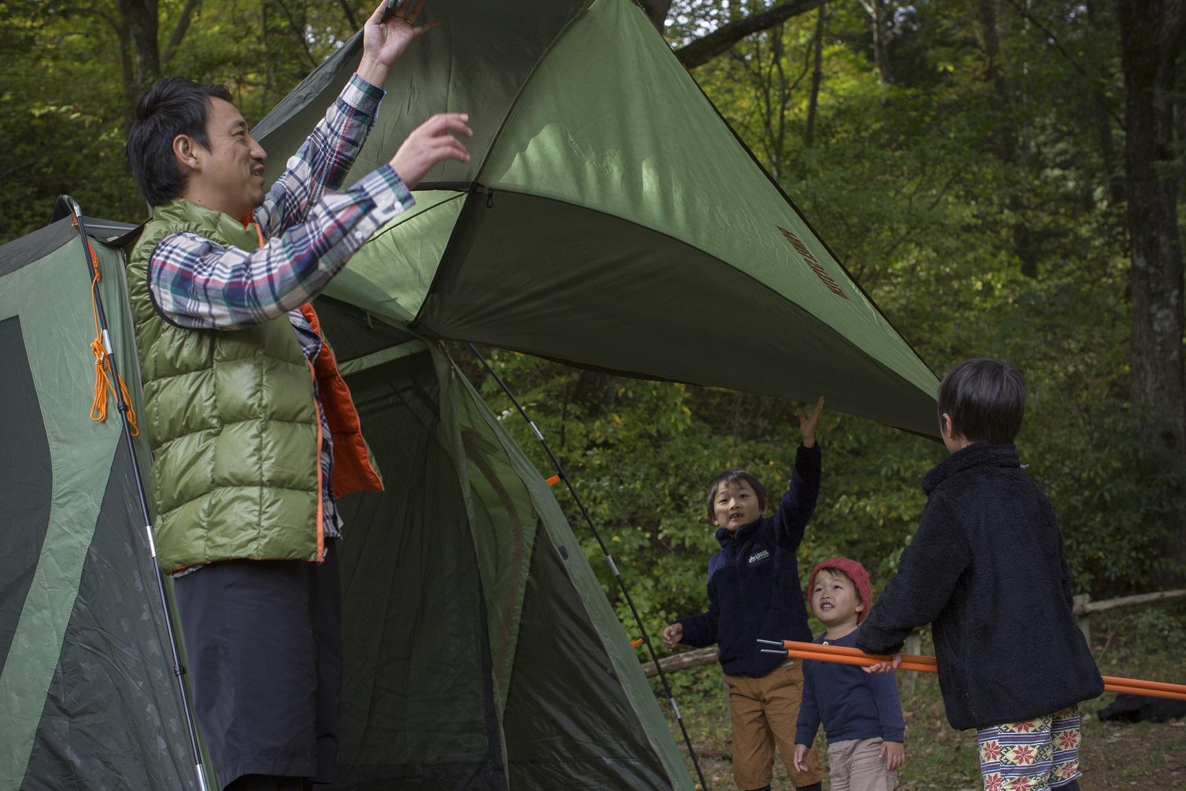 テント設営体験会&ワークショップ開催!!